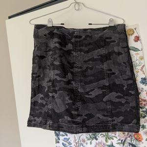 FP modern femme camo print mini skirt